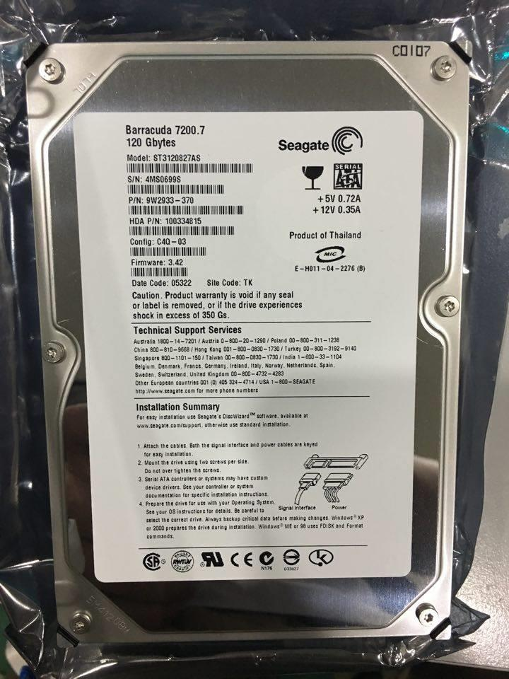 Seagate ST3120827AS 120GB 7200 RPM 8MB SATA 1.5 Hard Disk Like New