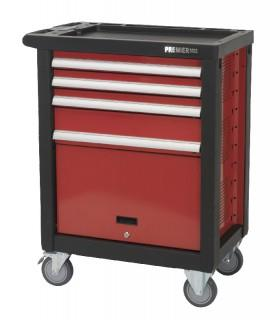 Sealey AP2405 Rollcab 4 Drawer with Ball Bearing Runners - RED