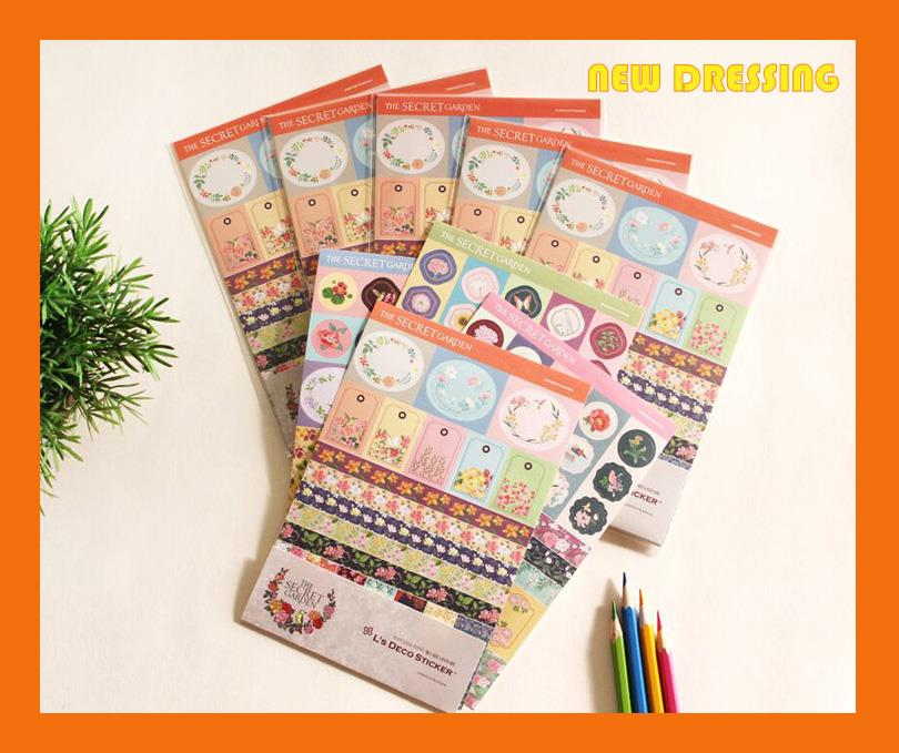 Secret Garden Sticker Pack - Zakka/Diary/Photobook DIY
