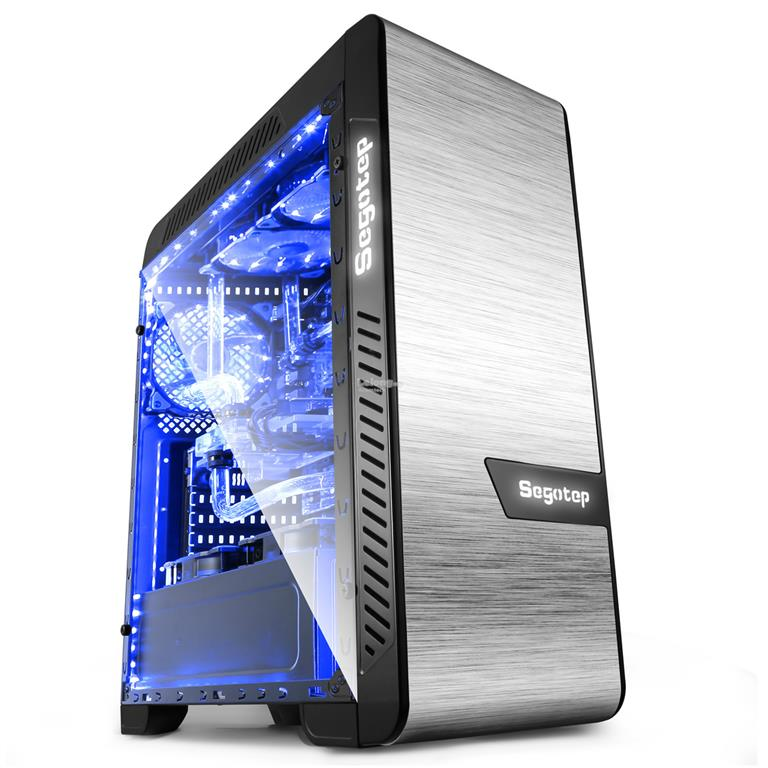 Segotep EOS Aluminum Tempered Glass ( 2 side ) Atx Gaming Case