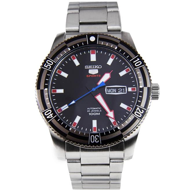Seiko Automatic Stainless Steel 100m Mens Sports Watch SRP735K1
