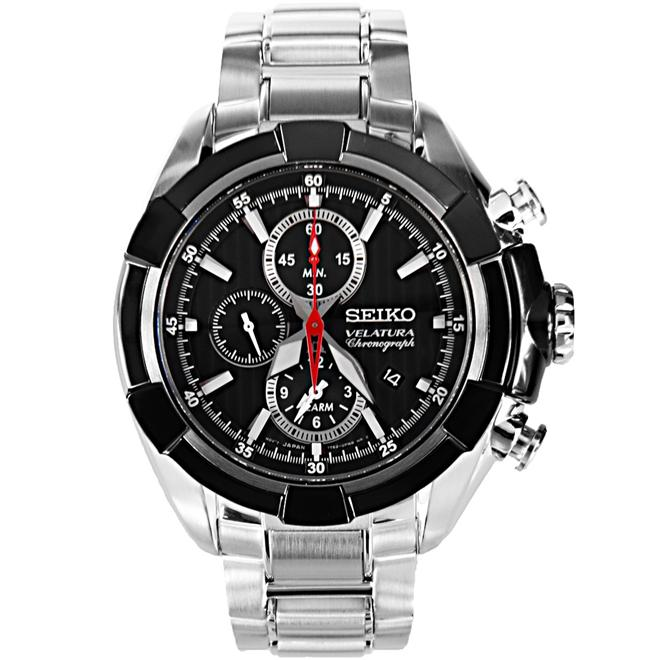 Seiko Velatura Alarm Chronograph  Men's Watch SNAF39P1