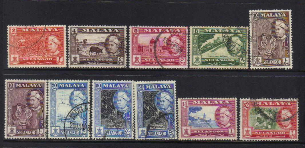 SELANGOR stamps 1957 DEFINITIVES USED BJ18