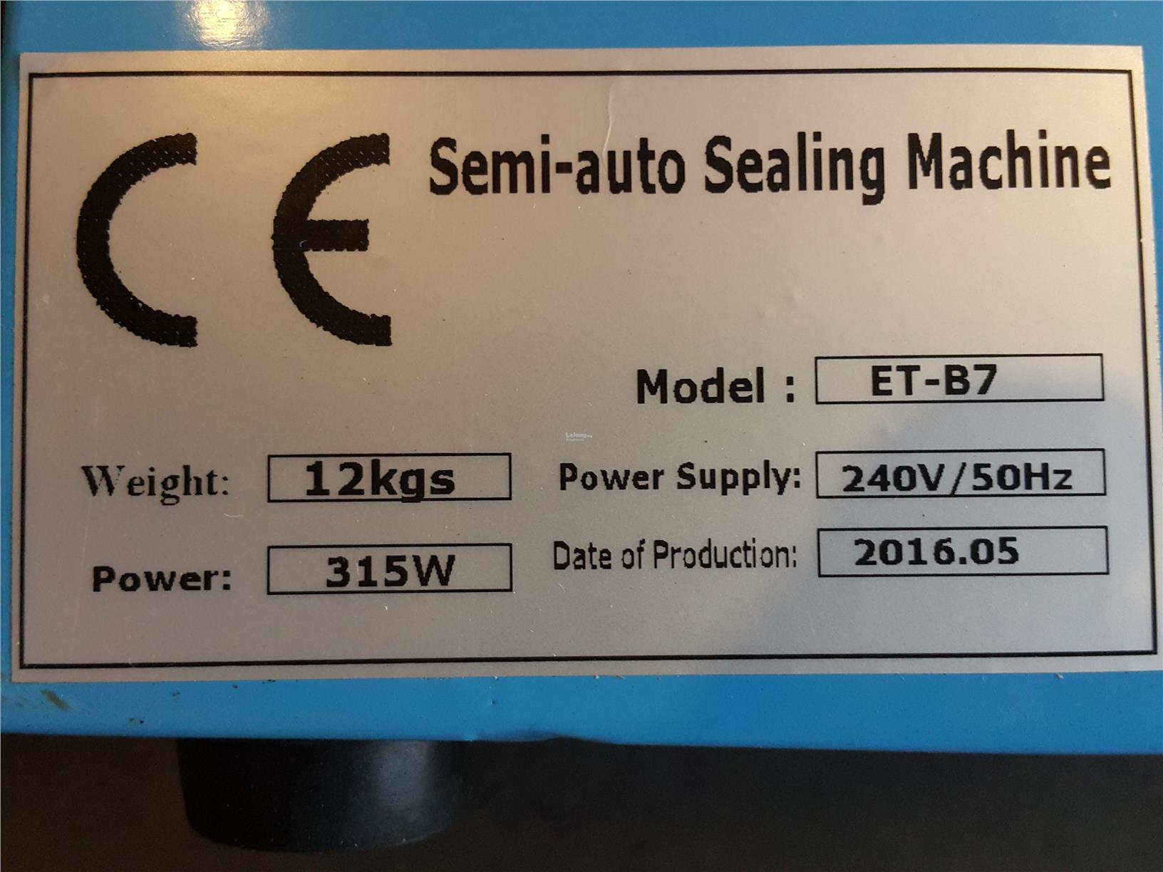 Semi-auto sealing machine with counter ID339163