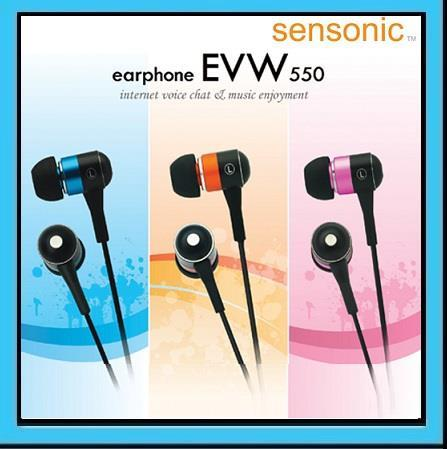 SENSONIC EVW550 Gold Plated In-Line Mic Earphone