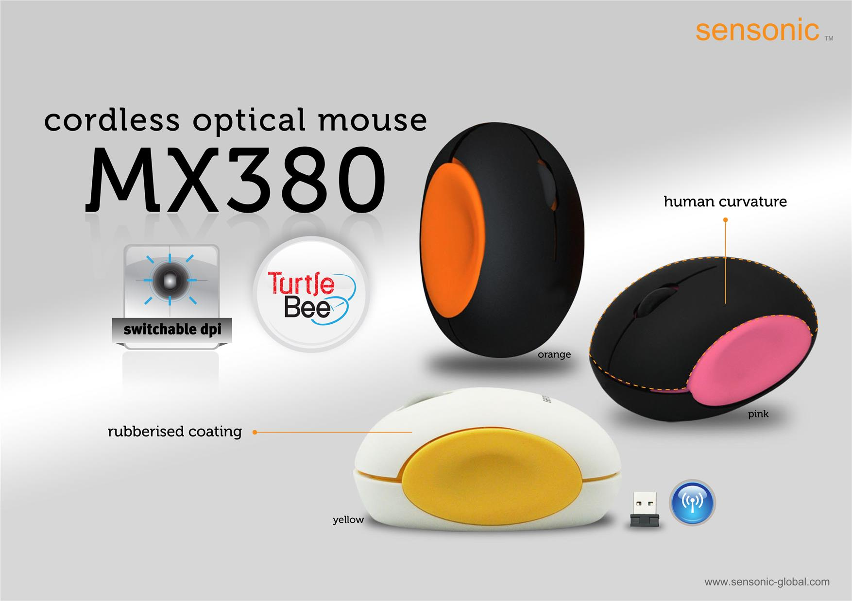 Sensonic Wireless Mouse MX380