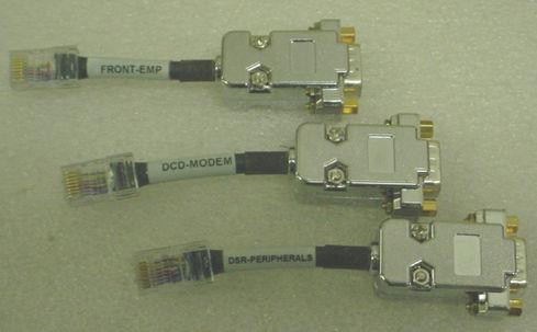 SERIAL CABLE KIT FRONT-EMP/DCD-MODEM/DSR-PERIPHERALS