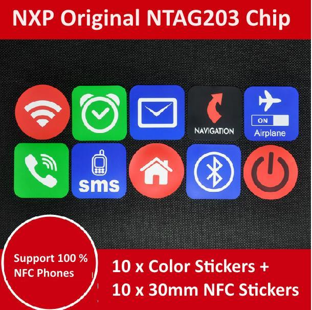 Set of 10 NTAG203 NFC Tag for All NFC Phones Note 3, S4