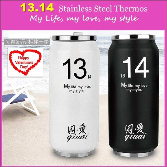Set of 2 (2x 460ml )1314 Stainless Steel Thermal Vacuum Flask