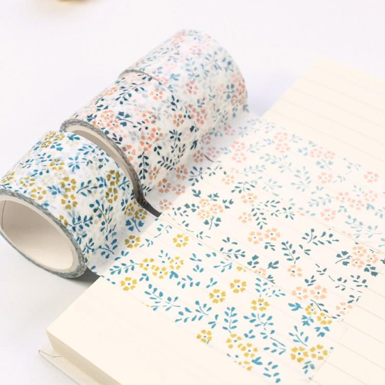 Set of 2 Premium Floral Washi Tape