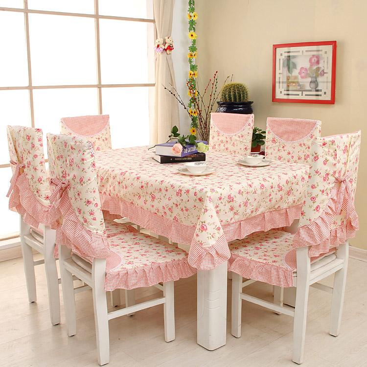 set 6 seat chair cover tablecloth dining table sarung kerusi alas meja