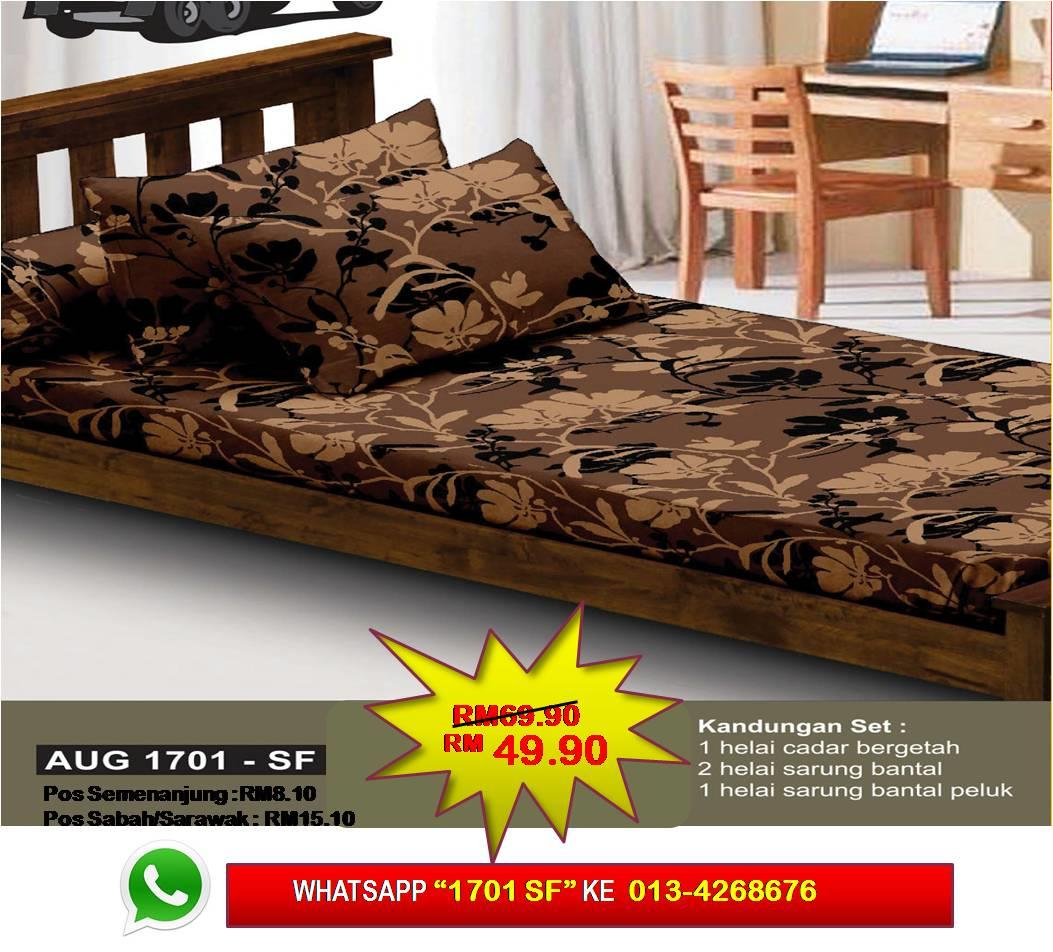 Set Cadar Single Fitted 'RADIANT CHARM' Bedsheet
