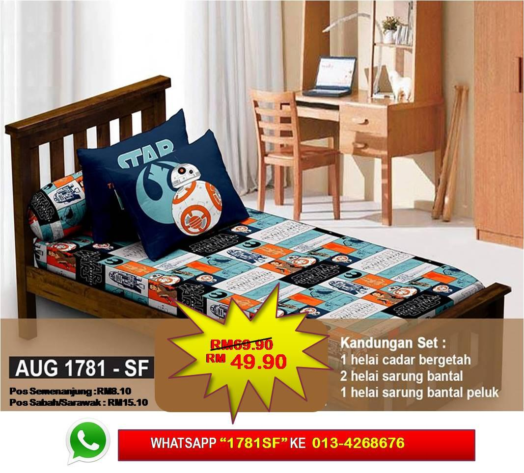 Set Cadar Single Fitted 'STAR WARS 7' Bedsheet