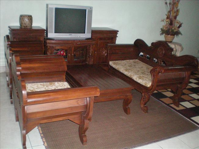SET SOFA & RAK TV KAYU JATI