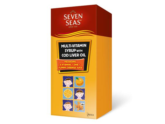 SevenSeas Multivitamin Syrup With Cod Liver Oil 2 x 500ml