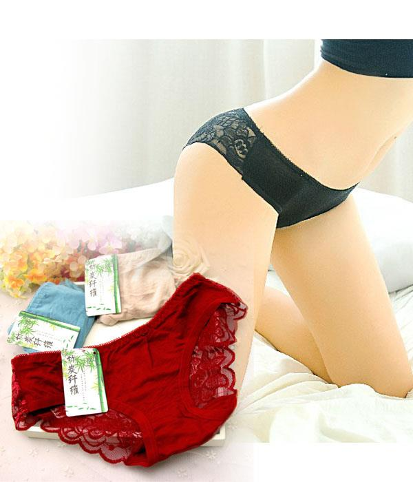 Sexy Bamboo Charcoal Lace Underwear