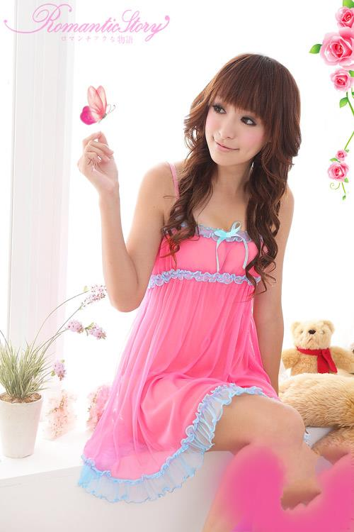 Sexy Cute Sweet Spaghetti String Babydoll Nightie #s1066