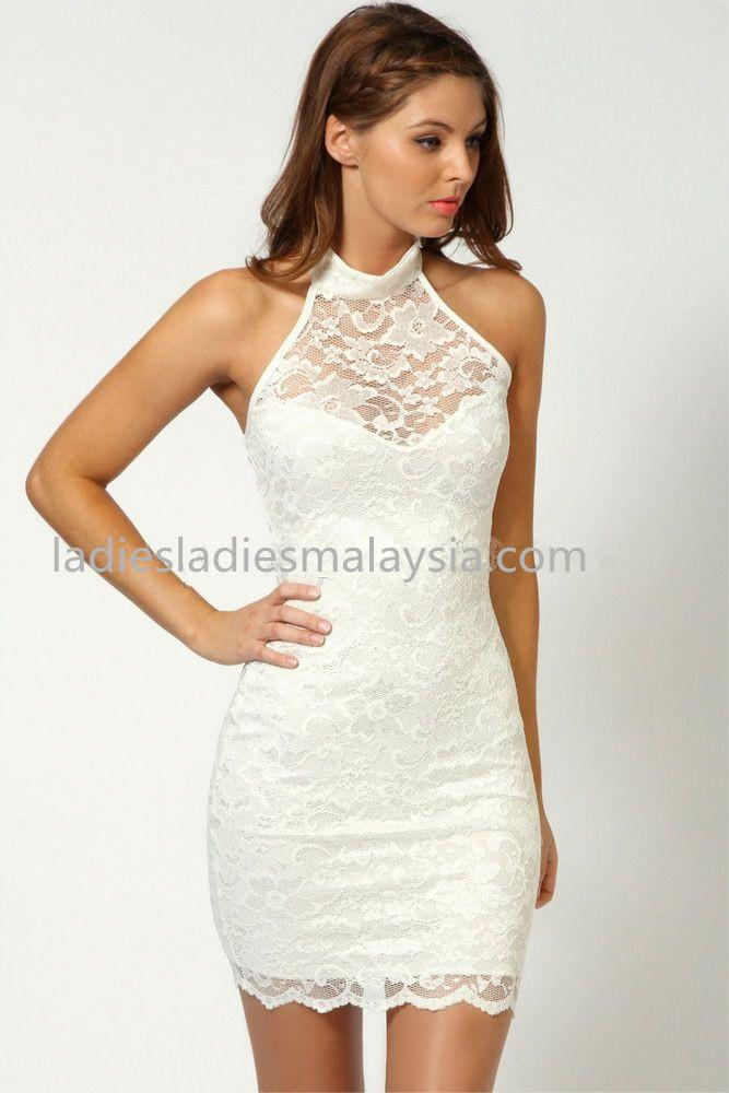 Sexy elegant tight straight A cut dinner dress lace flower