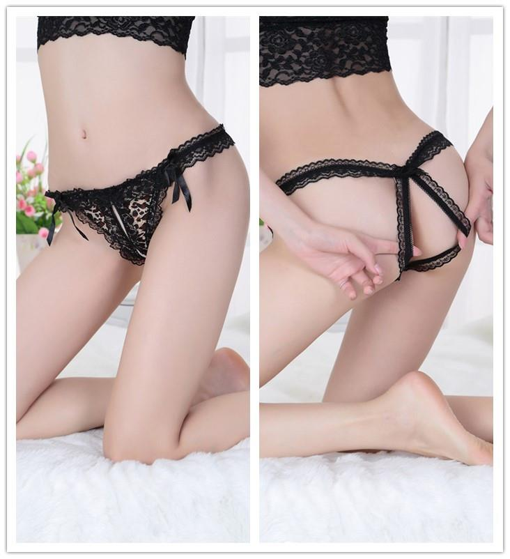 New~Sexy Lace Flower Side Open Type Underwear