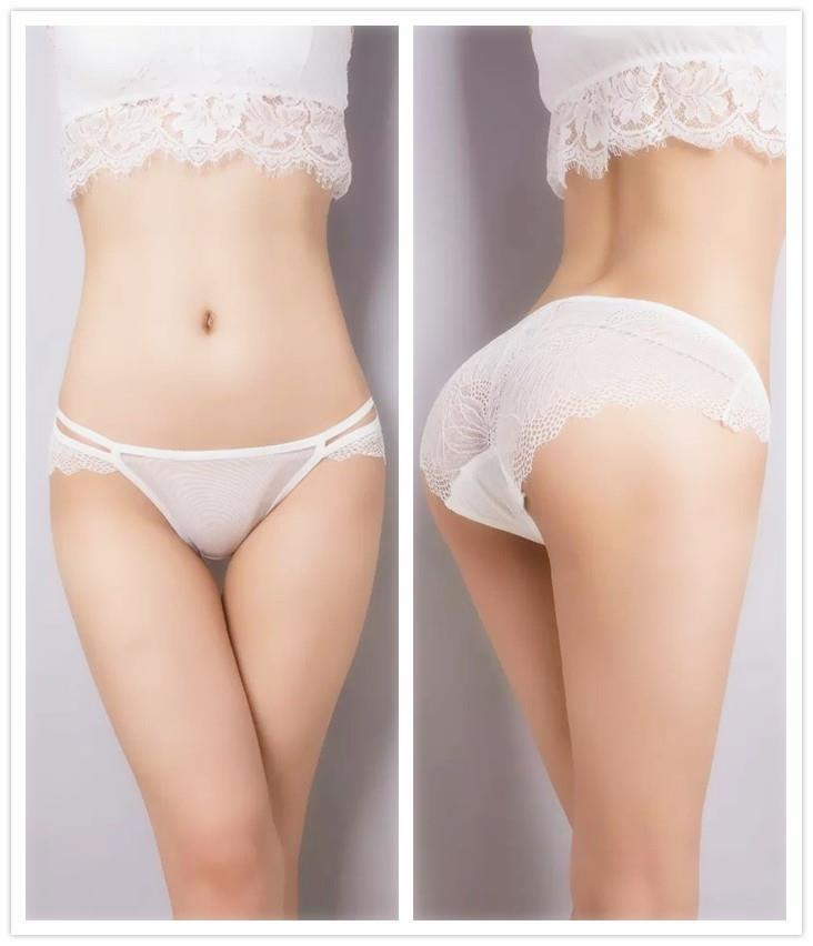 Sexy Lace Milk Silk Low Waist Underwear