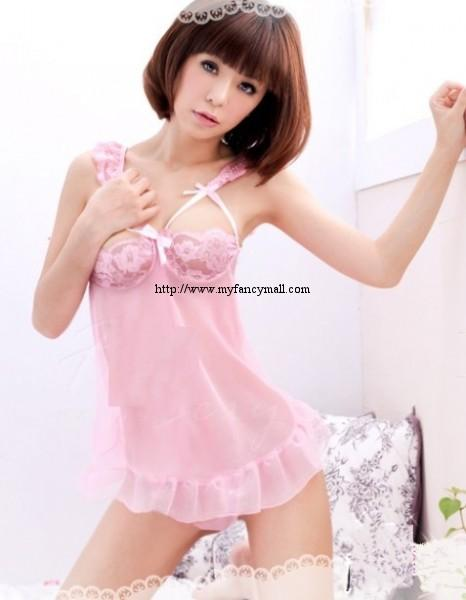 Sexy Lace Sleep Night Wear Sexy Wear Underwear Pyjamas Skirt +T 01789