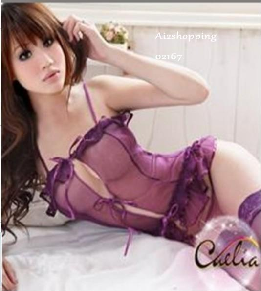 Sexy Lingerie purple lure+ G-string 02167