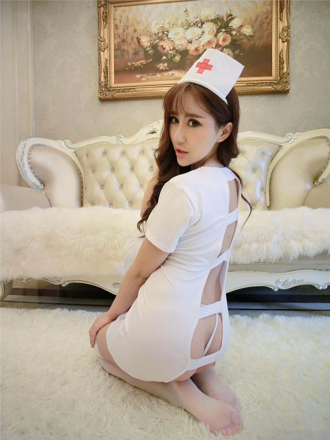 Sexy Nurse Costume (free size up to 2xl) YW1016