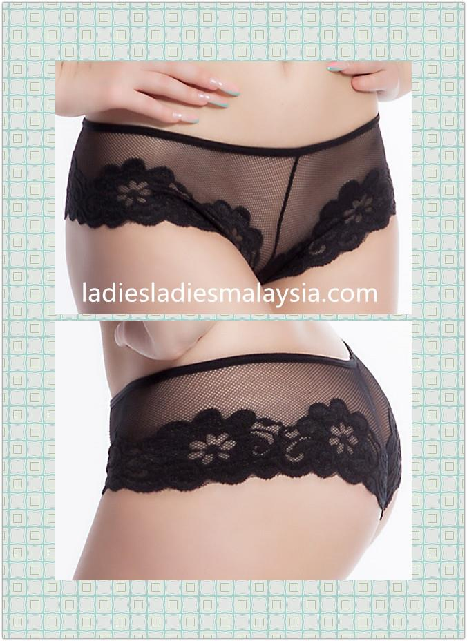 sexy panty lace transparent flower