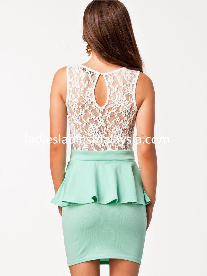 sexy tight straight A cut dress lace bare back
