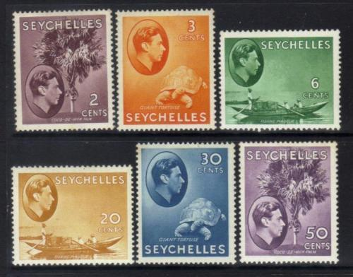 SEYCHELLES KGVI 1938 DEFINITIVES M/M CAT £10+ BJ222