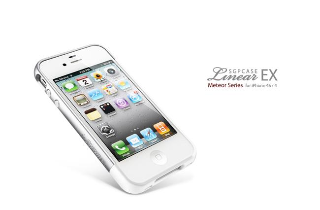 SGP iPhone 4 / 4S Case Linear EX Meteor Series [Infinity White]
