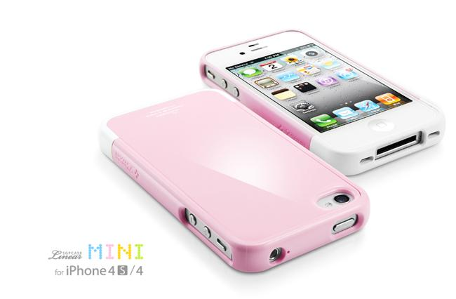 SGP iPhone 4S Case Linear Mini Series [Sherbet Pink]