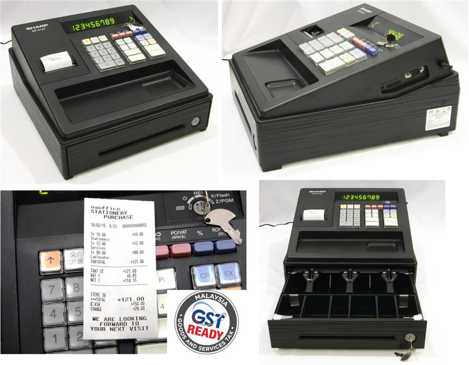 Sharp Electronic Cash Register GST Ready XEA147B