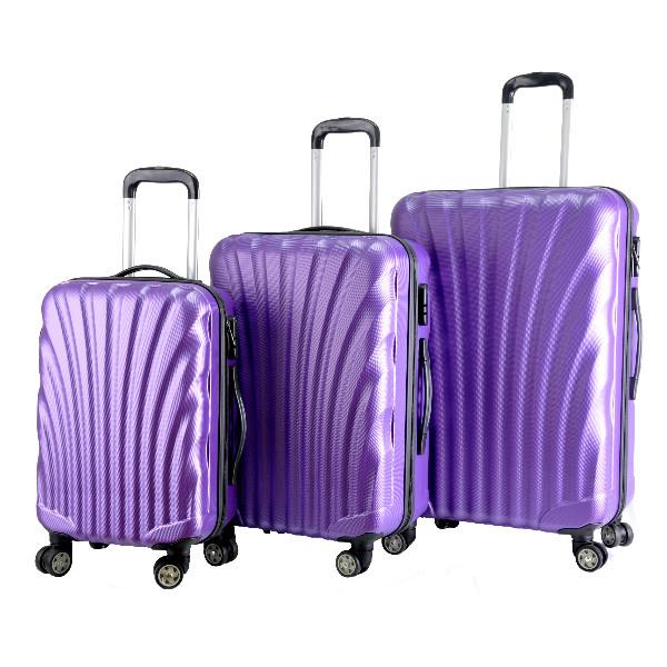 Shell Curve Shape Travel Luggage Bag ABS Hard Case 20' 24' 28'