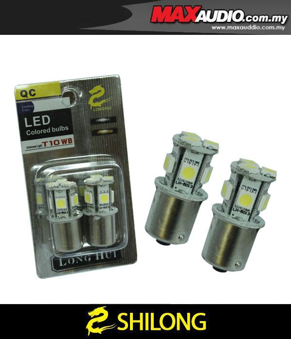 SHILONG Super Bright 1W White 9 LED Bulb Signal/ Reverse Light