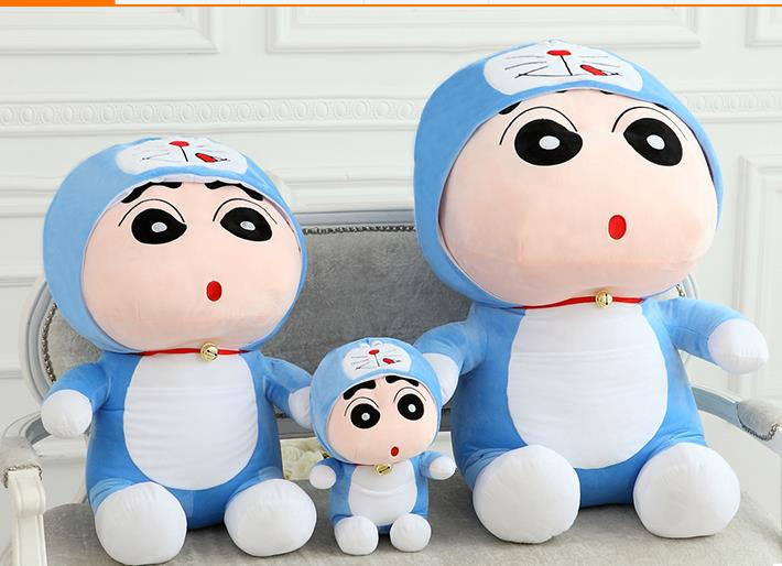Shin Chan soft plush toy limited edition Doraemon dress,36 ...
