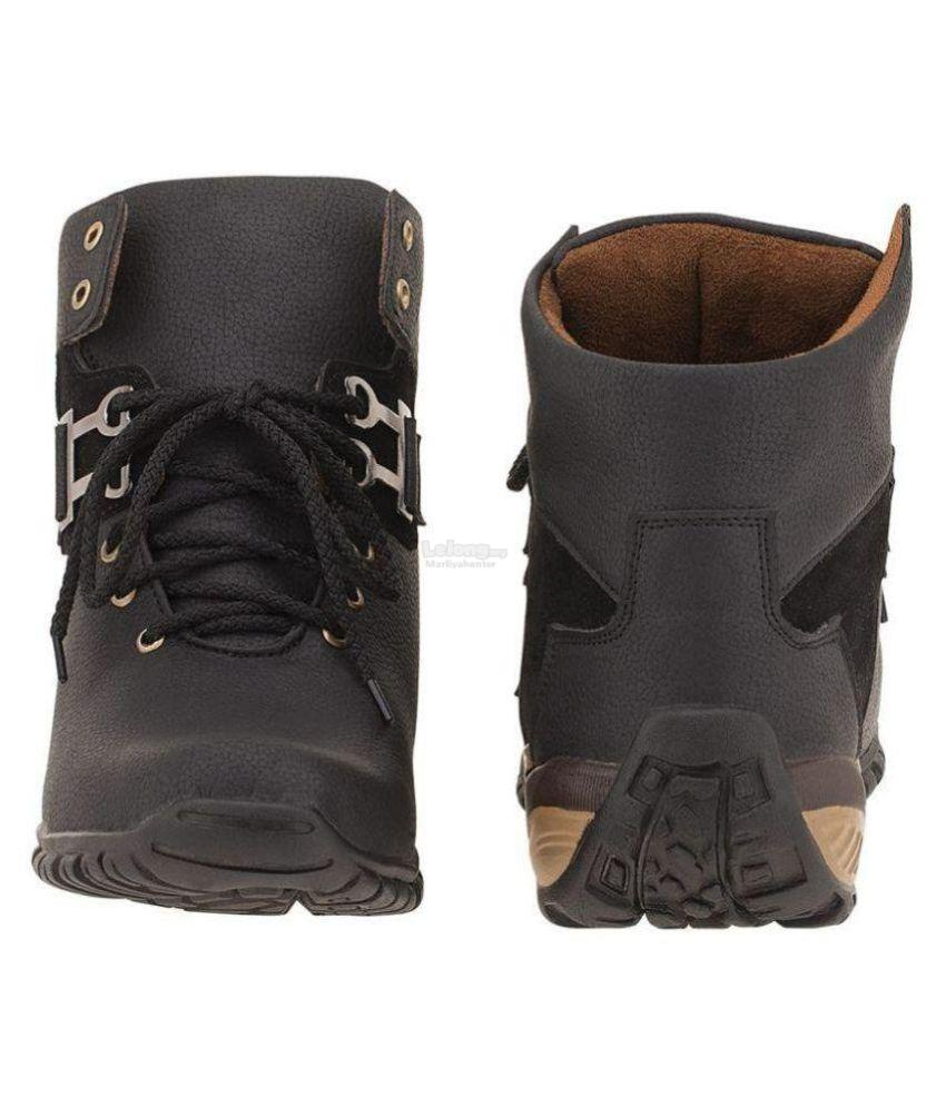 Shoe Island Black Party Boot