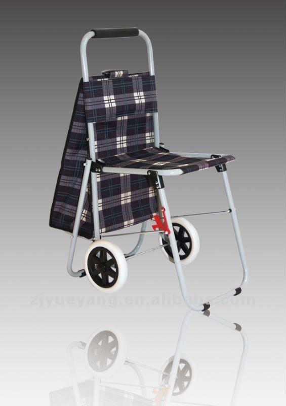 Shopping Trolley with seat trolley with chair
