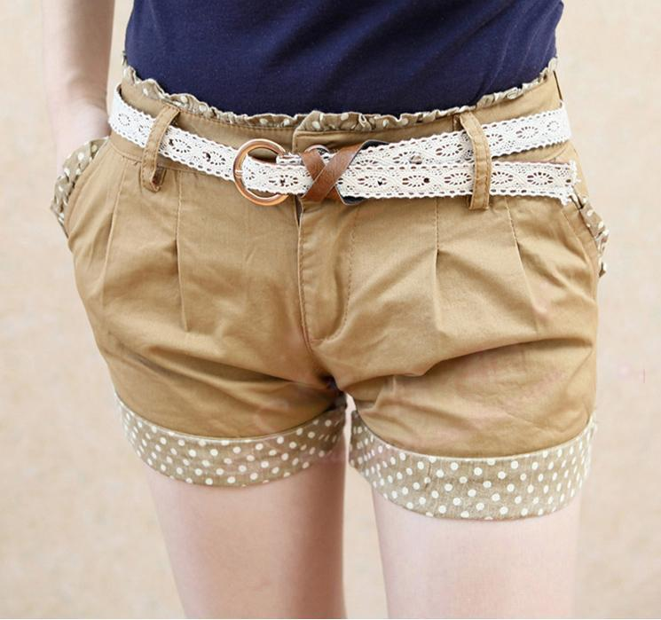 Shorts-With Belt 12812 (Khaki)
