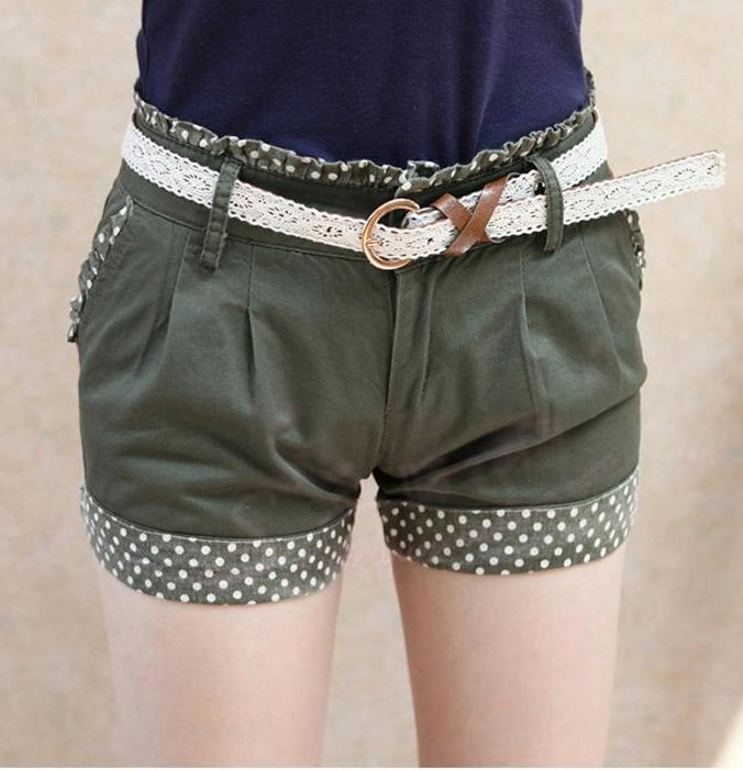 Shorts-With Belt 12812 (Olive)
