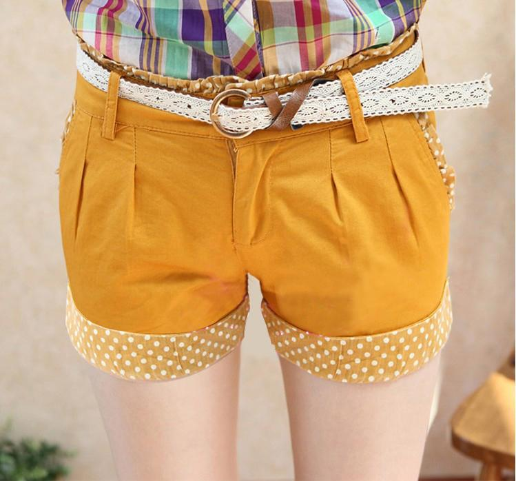 Shorts-With Belt 12812 (Orange Yellow)