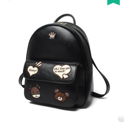 Shoulder bag cartoon embroidery backpack