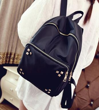 Shoulder bag female rivet backpack Oxford cloth large capacity