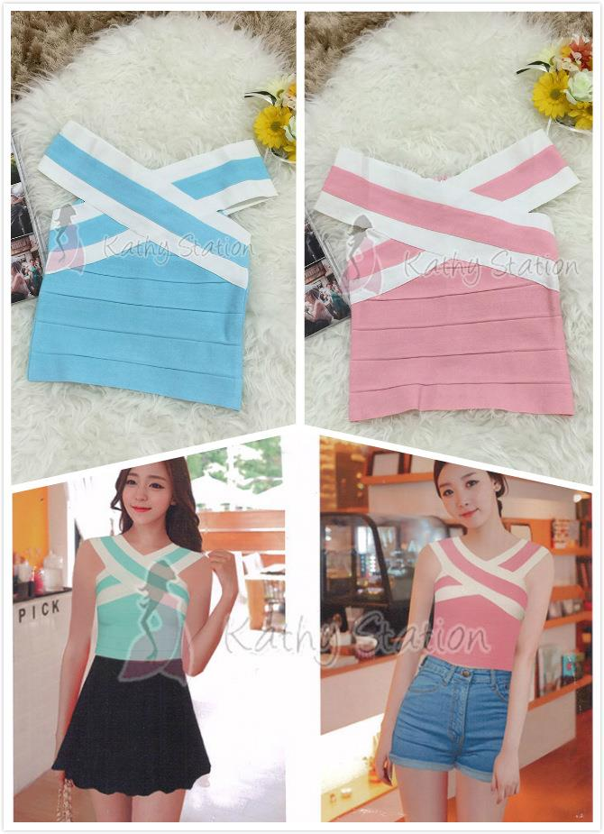 Off Shoulder Bandage Top [10118]