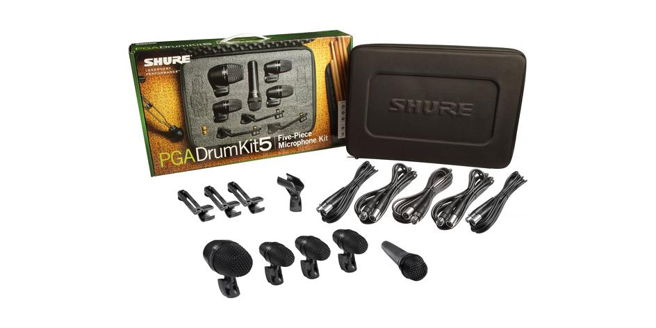 SHURE PGADRUMKIT5 - 5-Piece Drum Microphone Kit (NEW) - FREE SHIP