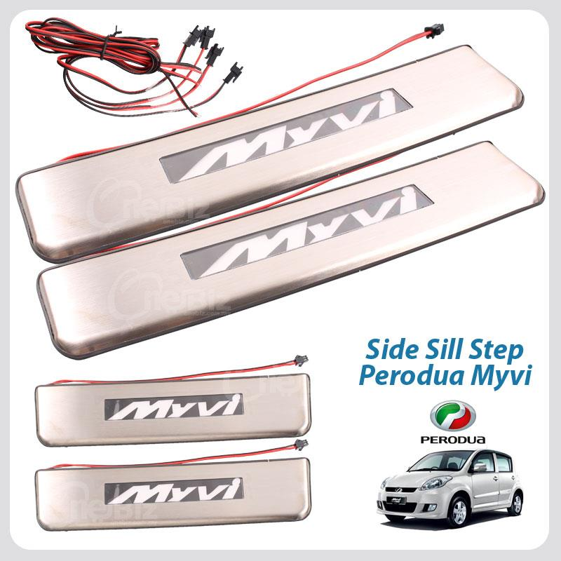 Side Sill Step With LED - Perodua Myvi - MS-SSS-20