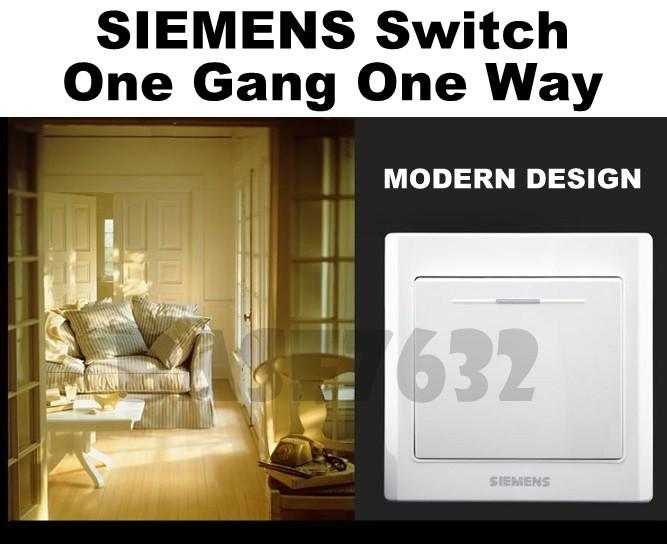 SIEMENS  Wall Mounted 1 Gang 1 Way Socket One Gang One Way Switch