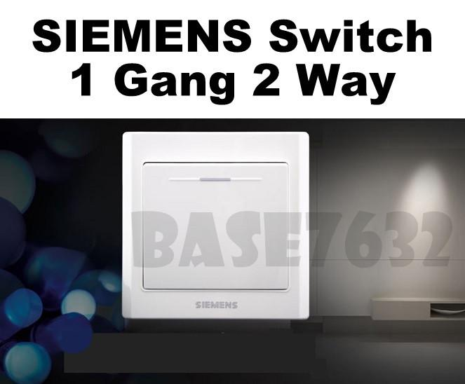 SIEMENS  Wall Mounted 1 Gang 2 Way Socket One Gang Two Way Switch