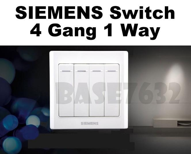SIEMENS  Wall Mounted 4 Gang 1 Way Socket Four Gang One Way Switch