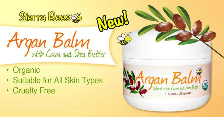 Sierra Bees, Organic Argan Balm with Cocoa & Shea Butter (28g)